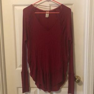 Free People red thermal